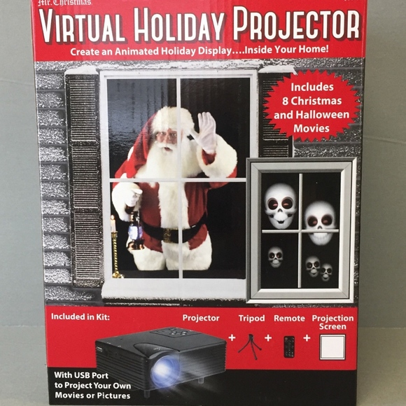 Mr Christmas Projector.Mr Christmas Virtual Holiday Projector Boutique